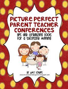 Picture Perfect Parent Teacher Conferences FREEBIE