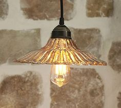 Antique Mercury Fluted Glass Pendant #potterybarn - have to measure for size, but nice for the sale price $50