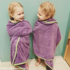 Our new Kids Towels have been kid approved - Ask Jennifer Boom, the proud mom of these beautiful twins, who can't get enough of the cuddly softness! Norwex Products, Norwex Biz, Baby Twins, Twin Babies, Proud Mom, Green Cleaning, New Kids, Our Baby, Bath Towels
