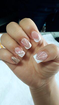 Beauty Nails, Hair Beauty, French Nails, Wedding Nails, Pretty Nails, Nail Art Designs, Gel Nails, Crime, Make Up