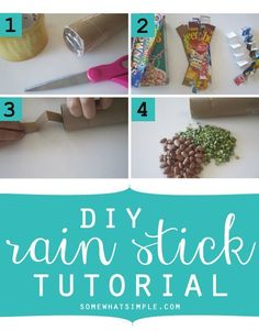 Such a fun kid's activity! How to make a rain stick from http://SomewhatSimple.com