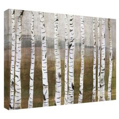 Birches Canvas Giclee Print