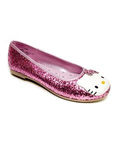 Take a look at this Hello Kitty Pink Hello Kitty Leila Flat on zulily today!