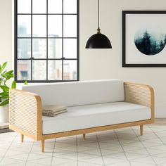 Atticus Daybed & Reviews | AllModern Rattan Daybed, Wood Daybed, Daybeds, Wooden Sofa, Daybed Mattress, Daybed Couch, Daybed Room, Sofa Beds, Twin Daybed With Trundle