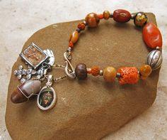 Interfaith Prayer Bead Bracelet Antique Tibetan by DesertTalismans