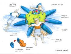 Starfish Station is a self inflating device which allows kids to spend time in the pool with improved safety, to make pool time more fun and to aid parents/carers with handling in the water.