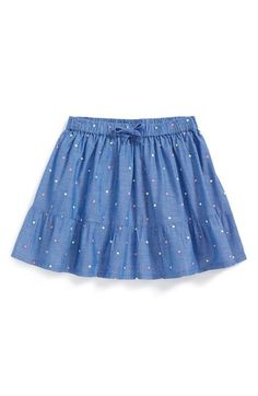 Tucker + Tate Chambray Skirt (Toddler Girls, Little Girls & Big Girls) available at #Nordstrom