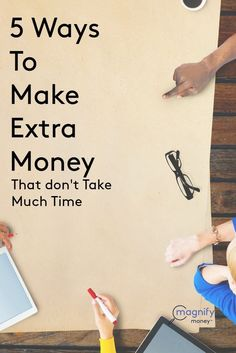 We all want to make a little extra money, whether it's to pay off debt, go on a vacation, or just have a little bit of a cushion. The problem arises when people have very little time to work on the side due to family responsibilities or other obligations. http://www.magnifymoney.com/blog/college-students-and-recent-grads/5-ways-make-extra-money-dont-take-much-time Money Making Ideas #Money Money Making Ideas, Making Money, #MakingMoney