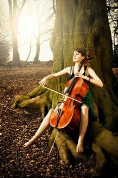 ♫♪ Music ♪♫ play in the nature Fin the Cellist cello Arte Cello, Cello Art, Cello Music, Dance Music, Art Music, Sound Of Music, Music Love, Music Is Life, Cellos