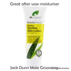 Tea Tree moisturiser for post waxing skincare to avoid a breakout and ingrown hairs.