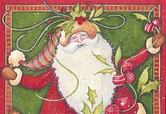 My dear and talented friend's artwork! Beth Yarbrough....love your Santa!
