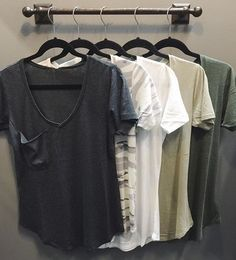 S P R I N G // your {fav} pocket tee's have just been re-stocked at both HT boutiques! $22 XS-L ••• CALL to order, WE SHIP! 360.716.2982 #shophoitytoity
