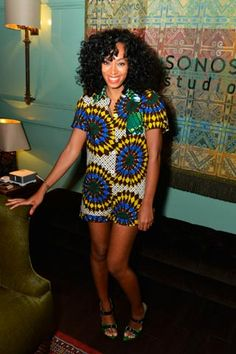 My style icon-Solange Knowles hosts listening party for her first album in four years, True, at in LA on Nov 2012 African Inspired Fashion, African Print Fashion, African Prints, Kitenge, African Attire, African Dress, Fashion Beauty, Fashion Looks, Solange Knowles
