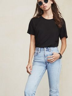 Sometimes boys clothes are better so we borrowed from them a little on this one. The Dan Tee is pretty much the perfect boyfriend tee. https://www.thereformation.com/products/dan-tee-black?utm_source=pinterest&utm_medium=organic&utm_campaign=PinterestOwnedPins