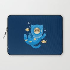 Purrfect Dive Laptop Sleeve