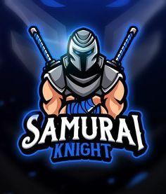 Samurai Knight - Mascot & Esport Logo by aqrstudio on Envato Elements Logo Desing, Game Logo Design, Typography Logo, Art Logo, Samurai, Ninja Logo, Ninja Art, Esports Logo, Skull Logo