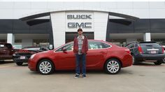 TYLER's new 2016 BUICK VERANO! Congratulations and best wishes from Hall Buick GMC and GERMAN FLORES.