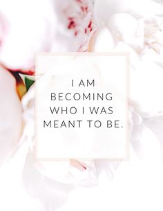 I AM BECOMING WHO I WAS MEANT TO BE. Use these 21 these affirmations to create a life of abundance and happiness! affirmation/ affirmation for women / self-love affirmation/ self-care affirmation/ positive affirmation / law of attraction / daily affirmati Affirmations For Happiness, Self Esteem Affirmations, Positive Affirmations For Success, Affirmations Positives, Affirmations For Women, Morning Affirmations, Daily Affirmations, Positive Mindset, Positive Vibes