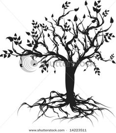 tree of life tattoo, possible top part with bottom part as woman's hand in negative space drawing.