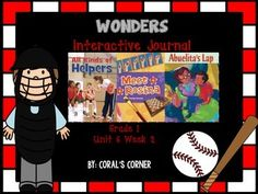 This 1st grade interactive journal is aligned to Common Core and to the McGraw Hill Wonders series for Unit 6 Week 2. This highly INTERACTIVE journal is ideal for teaching all of this week's skills in a powerful, student-friendly way!