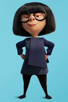 Disney Character Cosplay The Incredibles' Edna Mode Is Film's Best Fashion Character - Racked - Disney Sidekicks, Disney Pixar Movies, Disney Characters, Incredibles 2 Characters, Disney Icons, Disney Facts, Edna Mode, Edna Incredibles, Incredibles Wallpaper