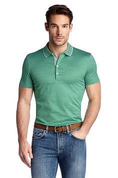 Regular Fit cotton polo shirt 'Bugnara 20', Green