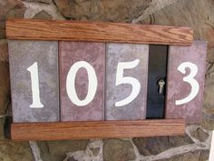 DIY for address plaque with glow-in-the-dark (at least for a little while) numbers and a secret key compartment - by Matt2 Silver [Instructables]