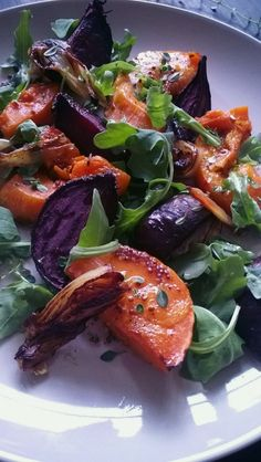 They Called It The Diamond Blog: EAT Roast Butternut Squash & Beetroot Salad With Rocket and Honey and Mustard Dressing