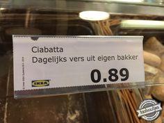 Als die maar lekker smaken, ciabatta-broodjes uit eigen bakker. Meer leuke voutjes vind je op www.taalvoutjes.nl