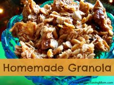 Homemade Granola Recipe -- great for gift-giving!