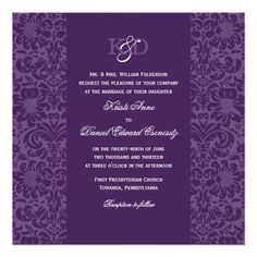 ReviewWedding Invitation | Eggplant Purple Damaskin each seller & make purchase online for cheap. Choose the best price and best promotion as you thing Secure Checkout you can trust Buy best