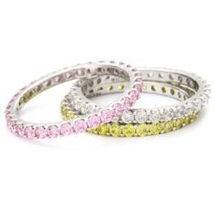 "MYIA PASSIELLO ""Stackables"" Swarovski Zirconia Stackable Rings $139"