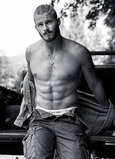 Alexander Ludwig photographed by Chris Haylett for. - Ludwiggers™You can find Alexander ludwig and more on our website.Alexander Ludwig photographed by Chris H. Viking Men, Viking Shop, Vikings Tv Show, Hommes Sexy, Hot Actors, Shirtless Men, Male Physique, Good Looking Men, Hot Boys