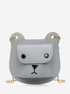 [26% OFF] 2019 Bear Pattern Flap Chain Crossbody Bag In GRAY | DressLily Cheap Crossbody Bags, Chain Crossbody Bag, Green Shoulder Bags, Buy Bags, Mini Heart, Christmas Bags, Leopard Pattern, Fashion Bags, Saddle Bags