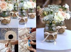 ZAJAZD BUMERANG *blog: Drugie życie słoików, czyli weselne dekoracje z recyklingu