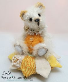 """4"""" original artisan bear from Warm Heart Bears"""