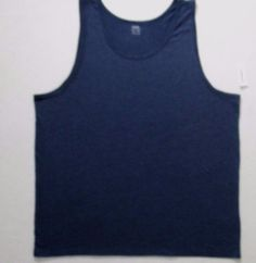 Old Navy Men T Shirt XL Navy Solid Sleeveless Cotton Polyester 17132 #OldNavy #TankTop