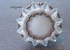 """""""SUNA"""" joli modèle  d'sabelle Penciolelli perlé avec les  perles khéops de Puca"""