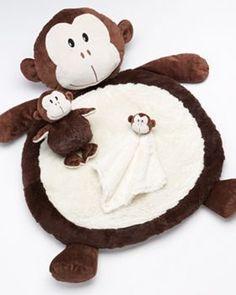 Bestever Monkey Plush Play Mat Set