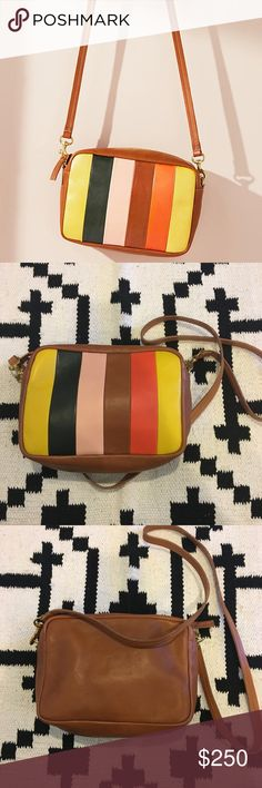 Clare V. midi Georgia striped crossbody bag New leather and brass bag! From the Miller Affect blog. No trades. Clare Vivier Bags Crossbody Bags