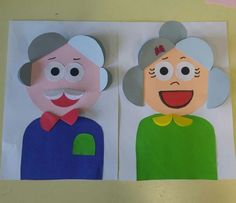 Grandparents Day Activities, Grandparents Day Cards, Baby Crafts, Diy And Crafts, Crafts For Kids, Diy Paper, Paper Crafts, Preschool Arts And Crafts, Board Decoration