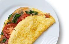 Omelet med parmaskinke og spinat A Food, Good Food, Food And Drink, Healthy Snacks, Healthy Eating, Vegetarian Recipes, Healthy Recipes, Baked Eggplant, Low Calorie Recipes