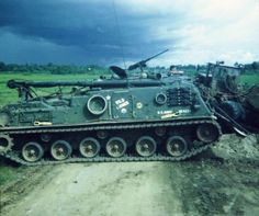 US Army M88 armored recovery vehicle.