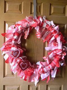 Simply Crafty: Valentine Fabric Wreath
