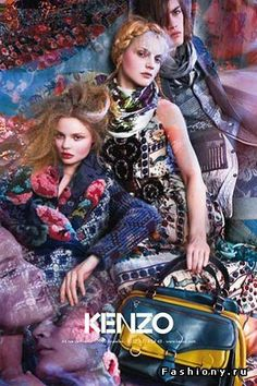 - Earlier this year, we brought you the heavily hippie-influenced Spring/Summer 2009 Kenzo collection; these shots of the Kenzo Fall 2009 campaign sh. Fashion Shoot, Editorial Fashion, Boho Fashion, High Fashion, Fashion Beauty, Kenzo, Russian Fashion, Japanese Fashion, Russian Style