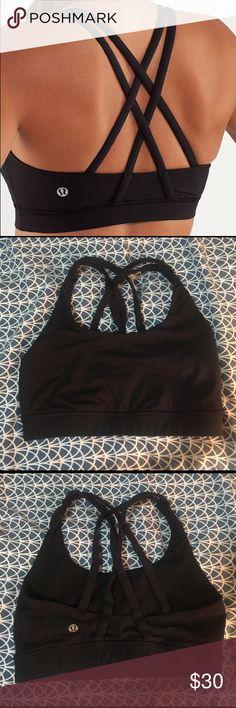 Lululemon bra LuluLemon Energy black bra. Size XS. Great condition. Smoke free home. lululemon athletica Intimates & Sleepwear Bras