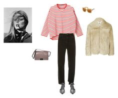 """tiger striped sky"" by pieaah ❤ liked on Polyvore featuring Chanel, Vetements, Topshop and Dolce&Gabbana"