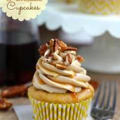 Pumpkin Pancake Cupcakes