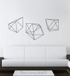 Geometric Diamonds Wall Decal Geometric Shapes Vinyl by LivingWall
