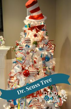 our dr seuss christmas tree 2013 a pop of pretty canadian decorating blog a pop of pretty canadian decorating blog - Dr Seuss Christmas Decorations